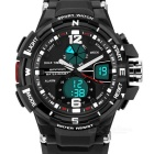 SANDA 50m Waterproof Japanese Movement Sports Watch - Black