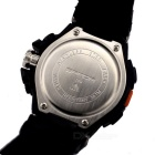 SANDA 50m Waterproof Japanese Movement Sports Watch - Black + Red