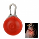 Red Light Flashing Glowing Clip-on LED Safety Night Light Collar Pendant for Pet Dog Cat - Red