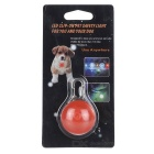 Red Light Clip-on LED Light Collar Pendant for Pet Dog Cat - Red