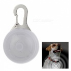 White Light Flashing Glowing Clip-on LED Safety Night Light Collar Pendant for Pet Dog Cat