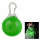 Green Light Flashing Glowing Clip-on LED Safety Night Light Collar Pendant for Pet Dog Cat - Green