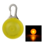 Yellow Light Flashing Glowing Clip-on LED Safety Night Light Collar Pendant for Pet Dog Cat - Yellow