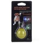 Yellow Light Clip-on LED Light Collar Pendant for Pet Dog Cat - Yellow