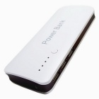 5V 6000mAh 3-USB Power Bank w/ LED for IPHONE + More - White + Brown