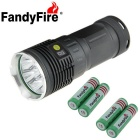 FandyFire T6 XM-L 7-LED 7000lm Cool White Outdoor Flashlight - Silver + Grey (4 x 18650)