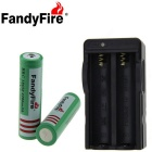 FandyFire T6 XM-L 7-LED 7000lm Cold White Outdoor Flashlight - Silver + Grey (4 x 18650)