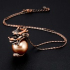 Xinguang Women's Ancient Dragon Style Pendant Necklace - Bronze