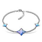 Xinguang Women's Graceful Glittering Crystal Inlaid Bracelet - Silver