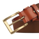 Couro Masculina ZK01 Fanshimite Pin Buckle Belt - Orange (130 centímetros)