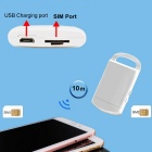 GSM Dual SIM / valmiustila bluetooth V4.0 adapteri iPhone / iPad / iPod touch - white