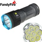 FandyFire 8-LED 7700lm R8 Super Bright LED Household Outdoor Flashlight - Blue + Grey (4 x 18650)