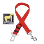 Pet Dog Car Travel Seat Belt Dog Safety Leash - Red