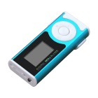 External Speaker LED Light Mini Metal USB MP3 Player