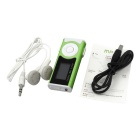 Reproductor Externo Altavoz LED Mini USB del metal MP3 - verde + blanco