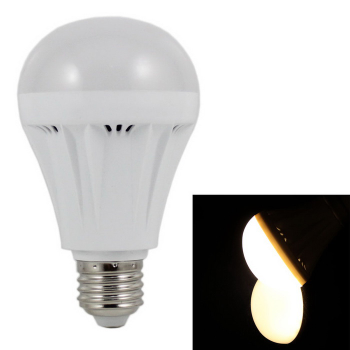 E27 9W LED Globe Bulb Lamp Warm White Light 3000K 580lm 32-SMD - White