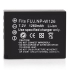 1260mAh NP-W126 W126 Batteries for FUJI X-Pro1 X-E1 FinePix HS50 HS33