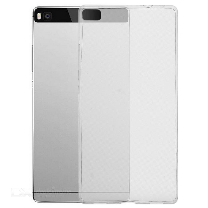 Ultra-Thin Protective TPU Back Case Cover for Huawei P8 - Transparent