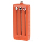 EDCGEAR Keychain Box Tool Case w/ Knife / Saw / Bottle Opener - Orange