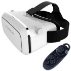 "Shinecon Virtual Reality Head Mount 3D Glasses + Bluetooth Remote Control for 3.5~6"" Phone - White"