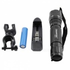 KINFIRE K01 XPE Q5 LED 280lm 5-Mode Bicycle Light Flashlight w/ Clip + 18650 Battery Charger