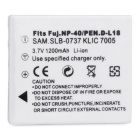 NP-40 Battery For FUJI J50 V10 F810 Z3 F650 - White (1200mAh)