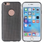 Snakeskin Grain Hollow-out Electroplating TPU Back Case for IPHONE 6 / 6S - Black