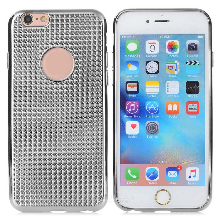 Snakeskin Grain Electroplating Back Case for IPHONE 6 / 6S - Silver