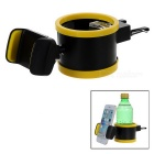 "360' Rotatable Car Air Vent Mount Holder for 5.5"" Cellphones & 6.5cm Water Bottles - Black + Yellow"