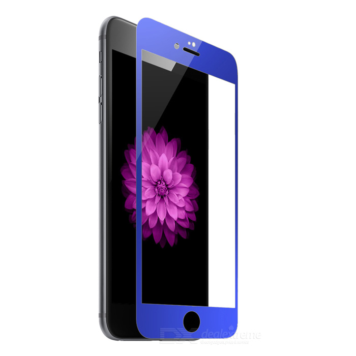 Full Covering Plating Mirror gehärtetes Glas Display Schutz für IPHONE 6 Plus / 6S Plus - Blau