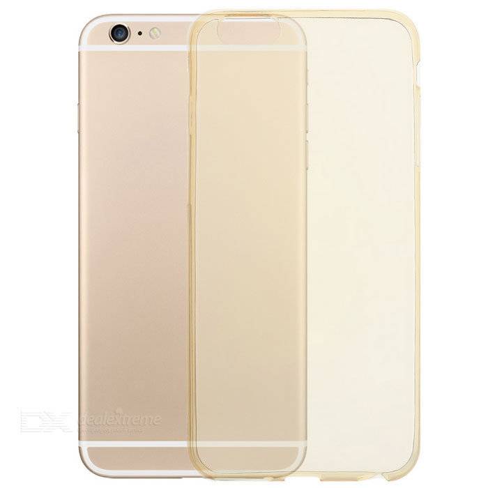 Funda trasera TPU para IPHONE 6 PLUS / 6S PLUS - transparente dorada