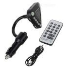 "1.1"" Car BT Handsfree MP3 Player FM Transmitter w/ Charger, TF - Black"