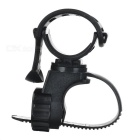 360-Degree Rotatable Bike Mount Holder for LED Flashlight - Black