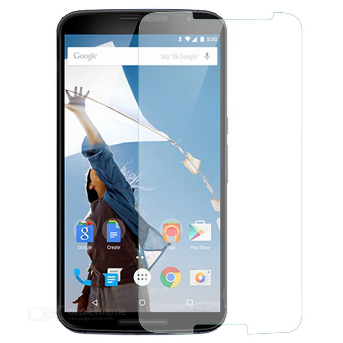 Explosion-proof Scratch-proof Clear 9H Tempered Glass Screen Protector for MOTO Nexus 6Screen Protectors<br>Form  ColorTransparentScreen TypeGlossyModelN/AMaterial9H tempered glassQuantity1 DX.PCM.Model.AttributeModel.UnitCompatible ModelsMOTO Nexus 6Packing List1 x Screen protector1 x Dust sticker1 x Wet wipe1 x Dry wipe<br>