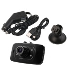 120 'CMOS 12MP DVR Car w / HDMI, IR Night Vision, Loop Record - Preto