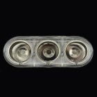 Jtron DC 12V/24V 5A 60W 3-Socket Car Cigarette Lighter - Transparent
