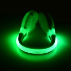 Jogging Green Safety Warning Shoes Wrist LED Light Clip - White
