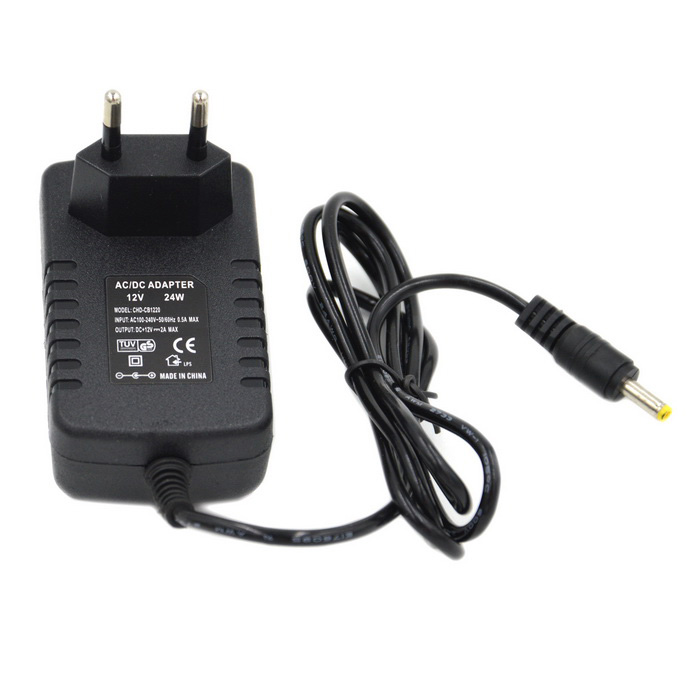 24W 12V / 2A EU Plug Power Supply Adapter for LED Light - BlackSwitching Power Supply<br>Power24WForm  ColorBlackMaterialPlasticQuantity1 DX.PCM.Model.AttributeModel.UnitRated Current2 DX.PCM.Model.AttributeModel.UnitRate VoltageAC 100~240VWorking Temperature-40~65 DX.PCM.Model.AttributeModel.UnitWorking Humidity20%~90% RHPower AdaptorYesPower AdapterEU PlugCertificationCEPacking List1 x Power supply (110cm)<br>