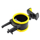 Universal Car Drink Bottle Holder and Phone Holder - Black + Yellow