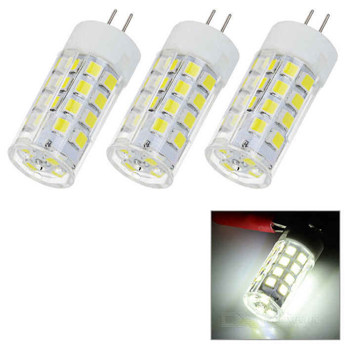 JRLED G4 3W 36-2835 SMD 400lm Cold White Light Ceramic BulbG4<br>Form  ColorWhite + Yellow + Multi-ColoredColor BINCool WhiteMaterialCeramic + PC + LEDQuantity3 DX.PCM.Model.AttributeModel.UnitPower3WRated VoltageOthers,AC/DC 12 DX.PCM.Model.AttributeModel.UnitConnector TypeG4Chip BrandOthers,N/AChip Type2835 SMDEmitter TypeOthers,2835 SMDTotal Emitters36Theoretical Lumens400 DX.PCM.Model.AttributeModel.UnitActual LumensN/A DX.PCM.Model.AttributeModel.UnitColor Temperature6000KDimmableNoBeam Angle360 DX.PCM.Model.AttributeModel.UnitOther FeaturesCompact size, high brightness, CRI&gt;75, suitable for home lighting, light source of the bedside, crystal light source.Packing List3 x G4 lights<br>