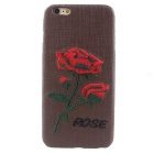 """MO.MAT Rose Knitting Pattern Caso Voltar para o iPhone PC 6S Plus / 6 Plus - Coffee + Vermelho + Multicolor"""