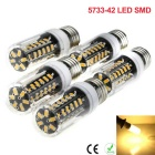 E27 5W 42-5733 SMD LED Super Bright Home Lighting Energy-Saving LED de milho Luz Warm White (5PCS)