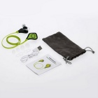 wireless in-ear sports stereo muziek oortelefoon w / mic. hands-free -groen