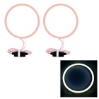 80mm 7W Pink Purple Light Highlight Angel Eye w/ Driver (2 PCS, DC 12~24V)