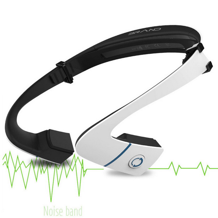 Sports Wireless Smart Bluetooth Stereo Headset - Black + White