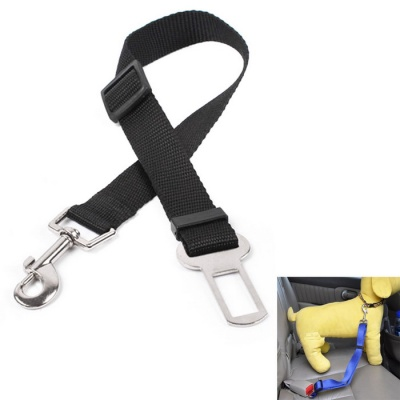 Pet Dog Car Travel Seat Belt Dog Safety Leash - Black