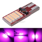 MZ T10 5W Canbus LED Car Clearance Lamp / Dome Light / Atmosphere Lighting 7020-10SMD Pink 12V