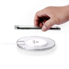 MO.MAT Qi Wireless Charger for Smart Phone - White + Transparent