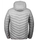 Ultra Light Fina Oversized com capuz de Down revestimento dos homens Jacket - Grey (XXXL)