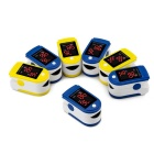 "Fingertip Blood Oxygen Saturation Monitor w/ 1.2"" LCD - White + Yellow"